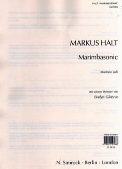 Marimbasonic - Markus Halt - Partition - Marimba - laflutedepan.com