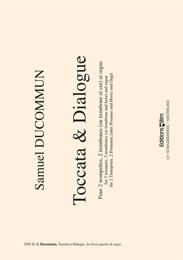 Toccata & Dialogue - Samuel Ducommun - Partition - laflutedepan.com