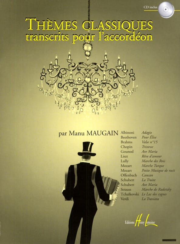 Manu Maugain - Transcribed Classical Themes for Accordion - Partition - di-arezzo.co.uk