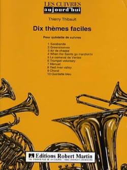 Dix Thèmes Faciles - Quintette de Cuivres - laflutedepan.com