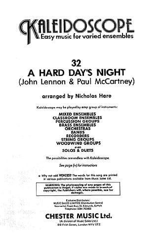 A Hard Day's Night - Kaleidoscope N° 32 - laflutedepan.com