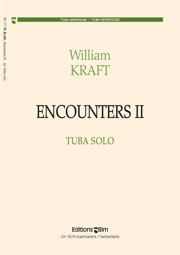 Encounters II - William Kraft - Partition - Tuba - laflutedepan.com