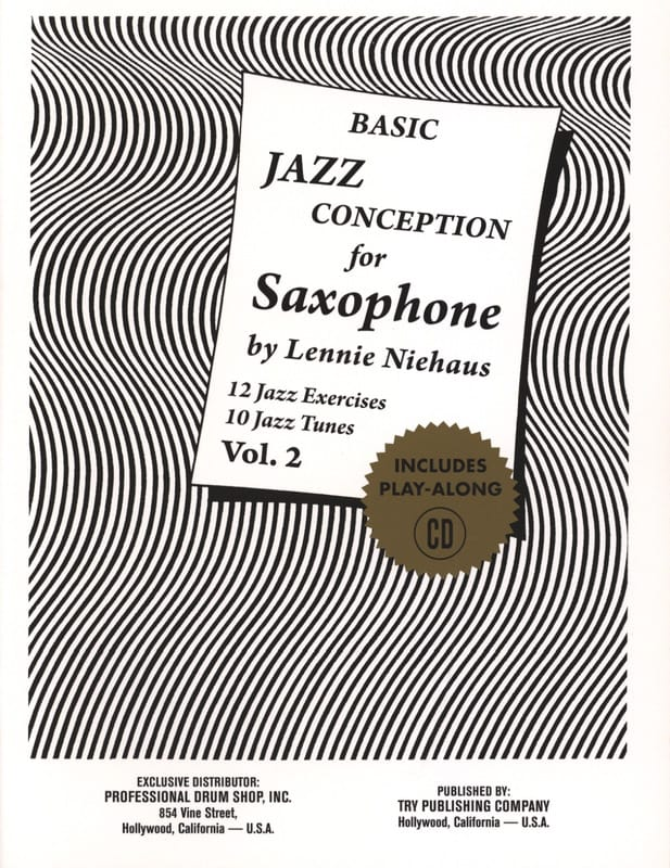 Lennie Niehaus - Basic Jazz Conception For Saxophone - Volume 2 - Partition - di-arezzo.fr