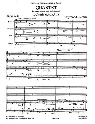 Quartet - Just Brass N° 35 - Raymond Premru - laflutedepan.com