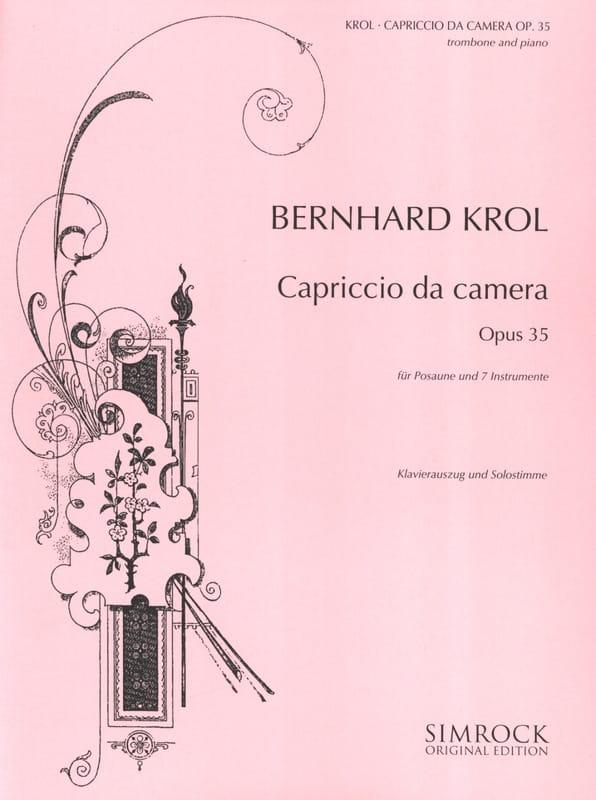 Bernhard Krol - Capriccio da camera opus 35 - Partition - di-arezzo.co.uk