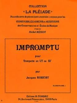Impromptu - Jacques Robert - Partition - Trompette - laflutedepan.com