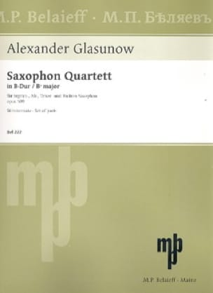 Alexander Glazounov - Quartet Opus 109 - Parts - Partition - di-arezzo.co.uk