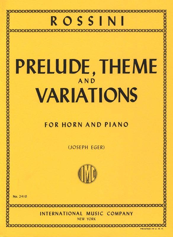Prélude Thème & Variations - ROSSINI - Partition - laflutedepan.com