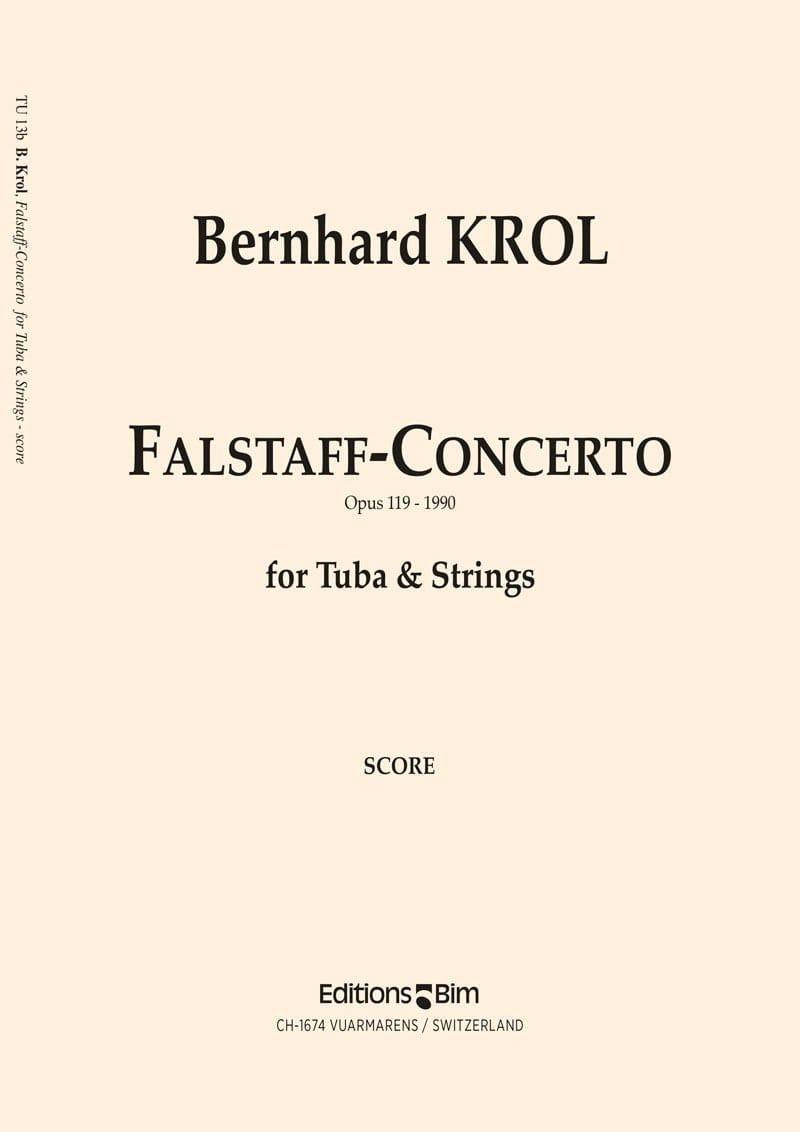Bernhard Krol - Falstaff-Concerto Opus 119 - Partition - di-arezzo.com