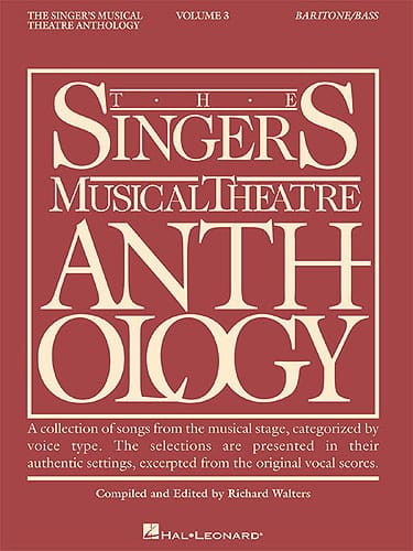 - The Singer's Musical Theater Anthology Volume 3 - Baritone / Bass - Partition - di-arezzo.co.uk