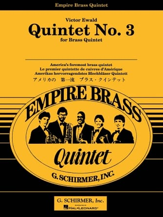 Quintet N° 3 In Db - Victor Ewald - Partition - laflutedepan.com