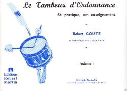 Robert Goute - Drum of Prescription Volume 1 - Partition - di-arezzo.co.uk