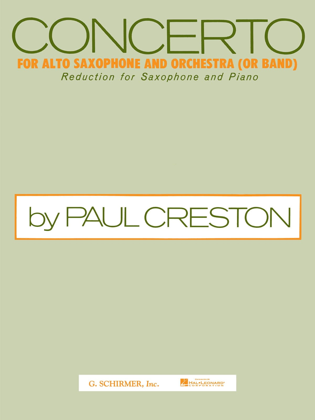Concerto - Paul Creston - Partition - Saxophone - laflutedepan.com