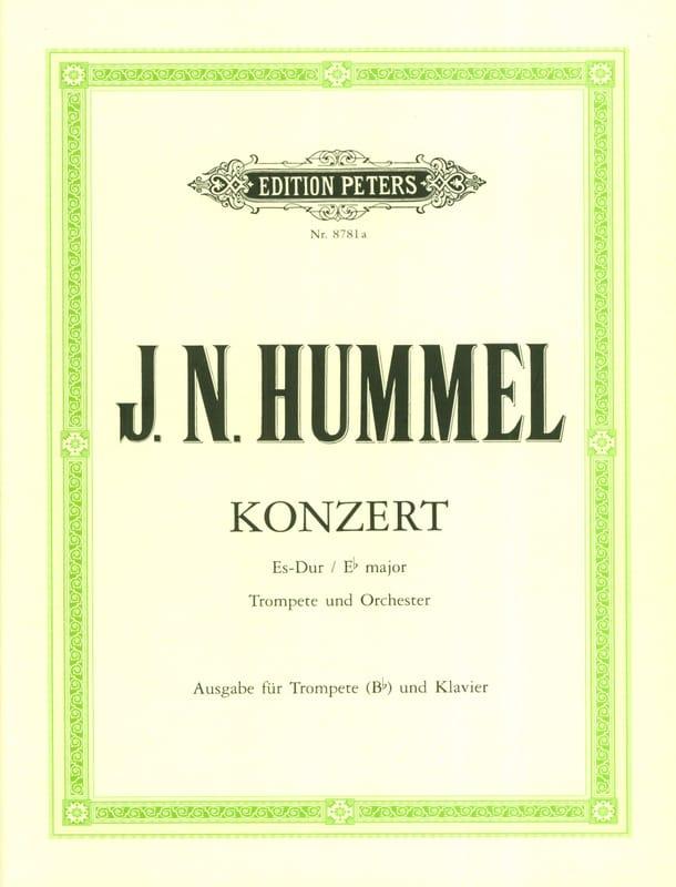 Konzert Es-Dur - HUMMEL - Partition - Trompette - laflutedepan.com