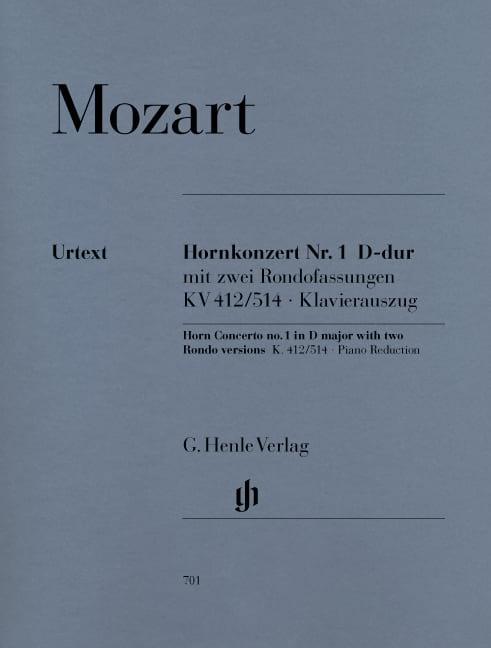 MOZART - Hornkonzert Nr. 1 D-Dur KV 412/514 - Partition - di-arezzo.fr