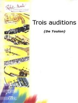 Jacques Toulon - 3 audiciones - Partition - di-arezzo.es