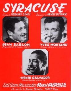Syracuse - Henri Salvador - Partition - laflutedepan.com