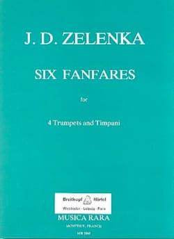 6 Fanfares - J.D Zelenka - Partition - Trompette - laflutedepan.com