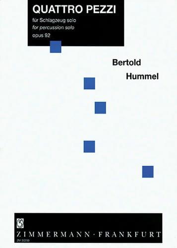 Quattro Pezzi Opus 92 - Berthold Hummel - Partition - laflutedepan.com