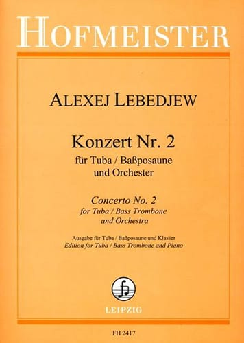Alexej Lebedjew - Konzert N ° 2 - Partition - di-arezzo.co.uk