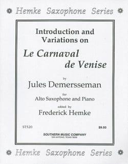Jules Demersseman - The Venice Carnival - Partition - di-arezzo.com