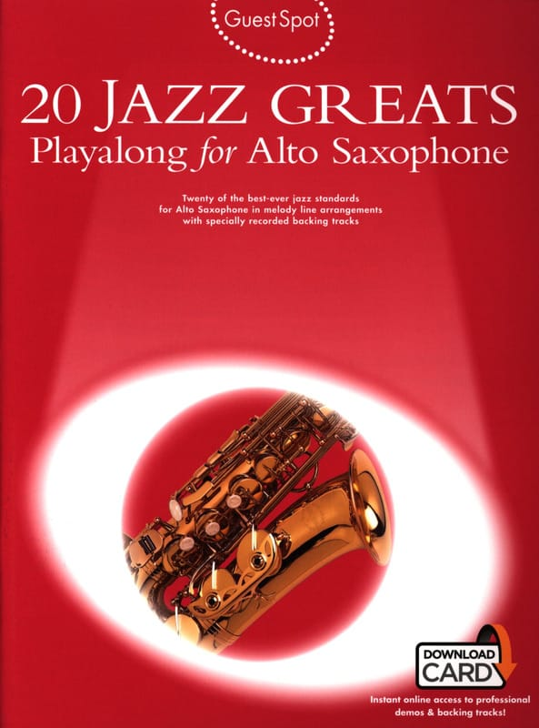 - Guest Spot - 20 Jazz Greats Playalong For Alto Saxophone - Partition - di-arezzo.com