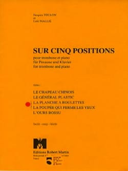 Jacques Toulon - The Rolling Board / The Doll que cierra los ojos - 5 posiciones - Partition - di-arezzo.es