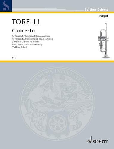 Concerto D-Dur - TORELLI - Partition - Trompette - laflutedepan.com