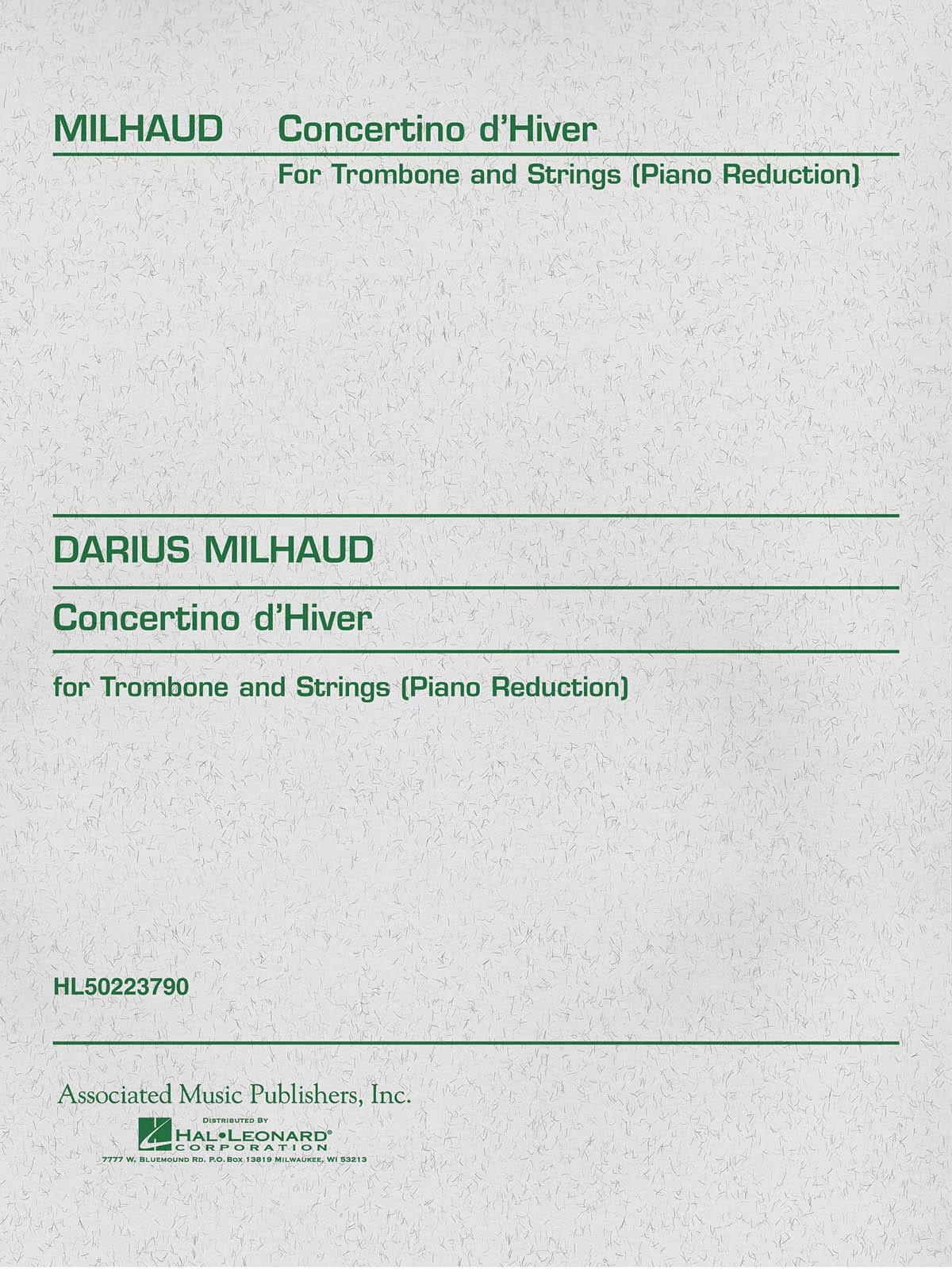 Concertino D' Hiver - MILHAUD - Partition - laflutedepan.com