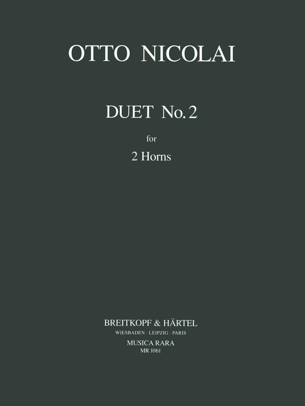 Otto Nicolai - Duet N ° 2 - Partition - di-arezzo.com