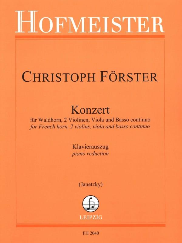 Konzert - Christoph Förster - Partition - Cor - laflutedepan.com