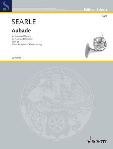 Aubade Opus 28 - Humphrey Searle - Partition - Cor - laflutedepan.com