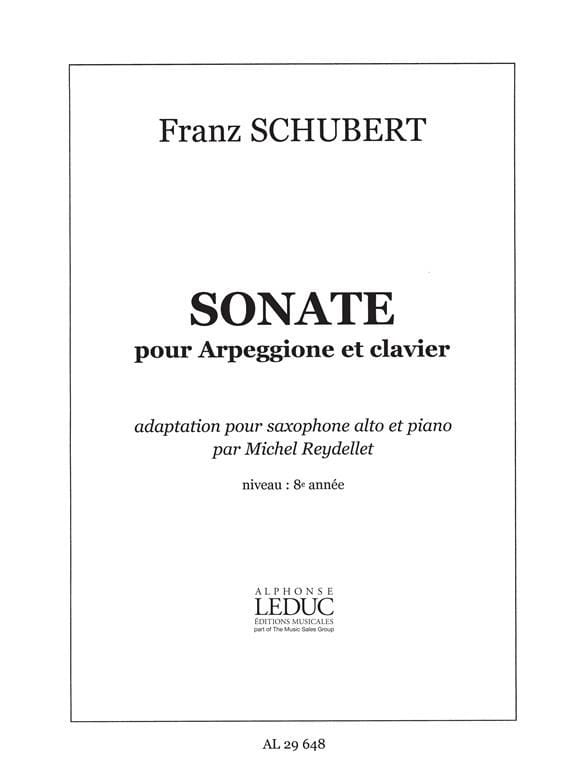 SCHUBERT - Sonata For Arpeggione And Keyboard - Partition - di-arezzo.com