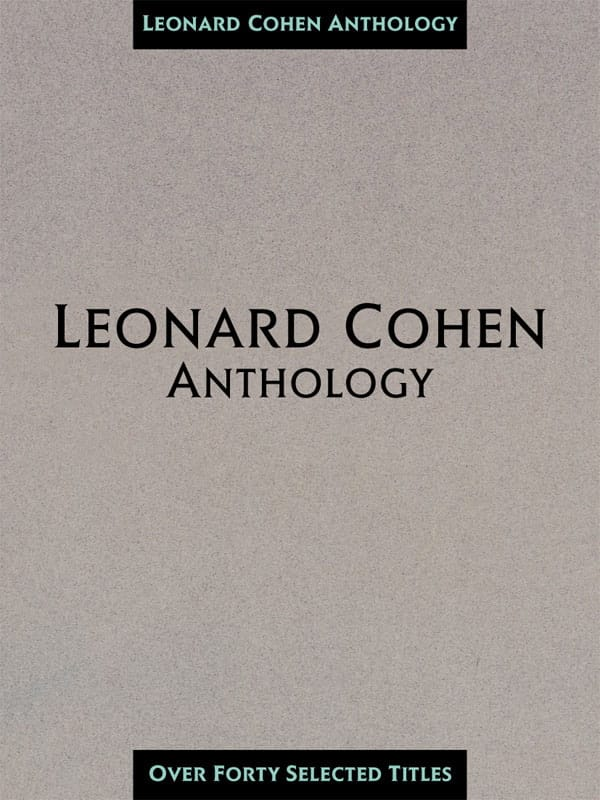 Leonard Cohen - Leonard Cohen Anthology 40 Songs - Partition - di-arezzo.com