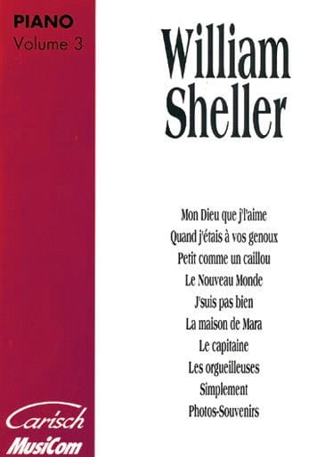 William Sheller - Album Volume 3 - Partition - di-arezzo.com