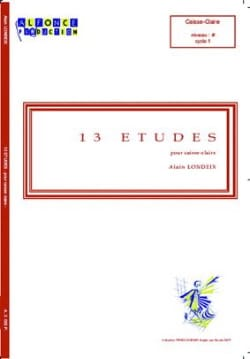 Alain Londeix - 13 Studies - Partition - di-arezzo.co.uk