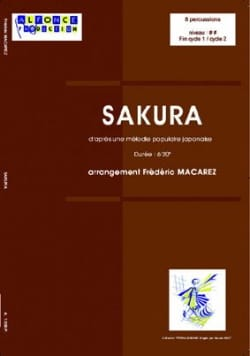 Frédéric Macarez - Sakura - Partition - di-arezzo.co.uk