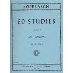 Georg Kopprasch - 60 Studies Volume 1 - Partition - di-arezzo.co.uk
