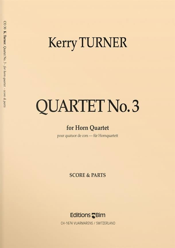 Kerry Turner - Quartet N ° 3 - Partition - di-arezzo.co.uk