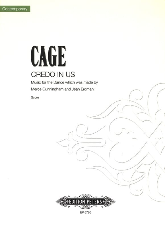 John Cage - Credo en nosotros - Partition - di-arezzo.es
