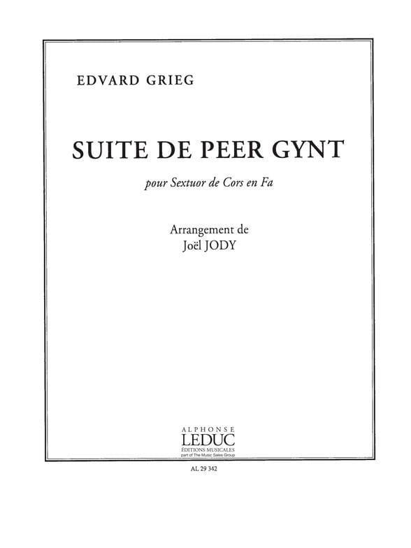 Edgard Grieg - Peer Gynt's Suite - Partition - di-arezzo.com