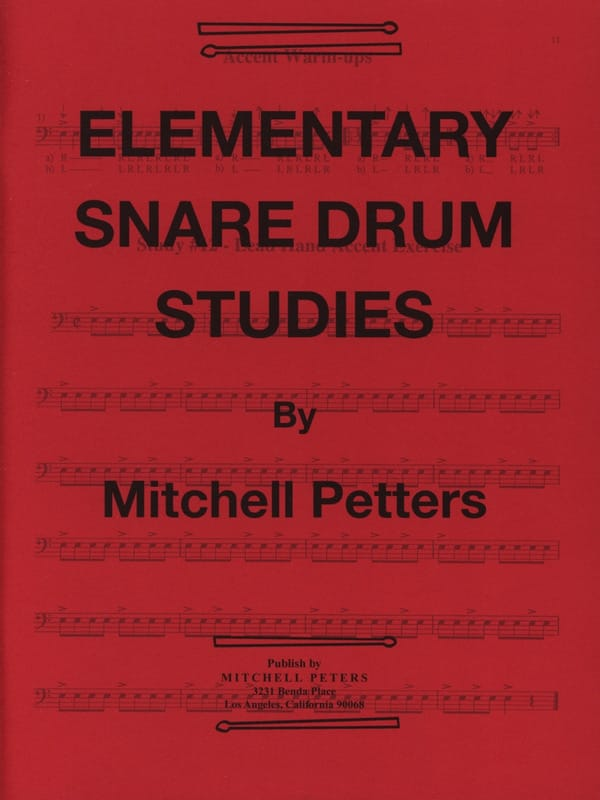 Mitchell Peters - Elementary Snare Drum Studies - Partition - di-arezzo.co.uk