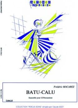 Frédéric Macarez - Batu-Calu - Partition - di-arezzo.co.uk
