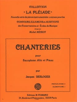 Chanteries - Jacques Desloges - Partition - laflutedepan.com
