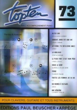 Topten 73 - Partition - Chanson française - laflutedepan.com
