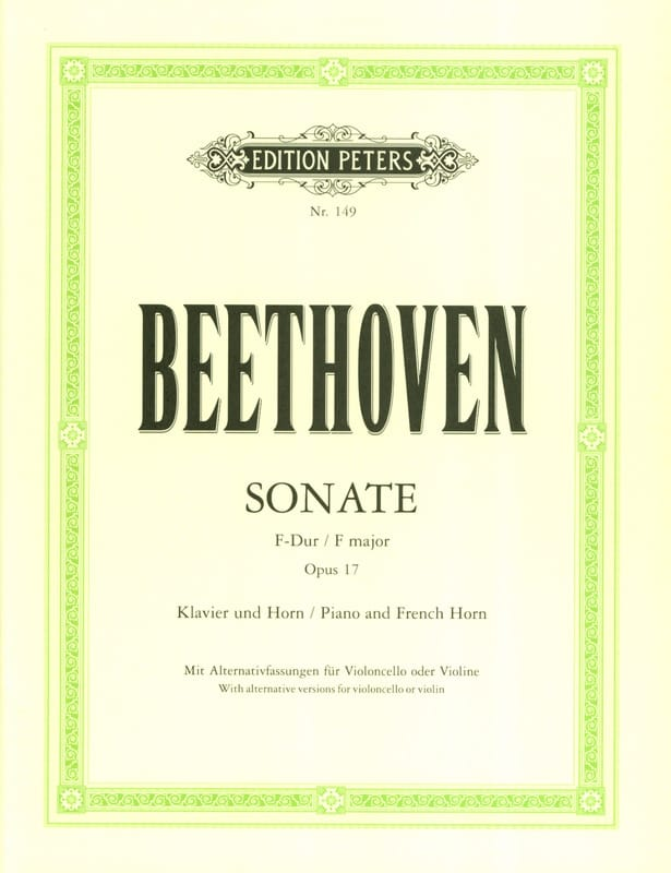 Sonate pour Cor Opus 17 en Fa Majeur - BEETHOVEN - laflutedepan.com