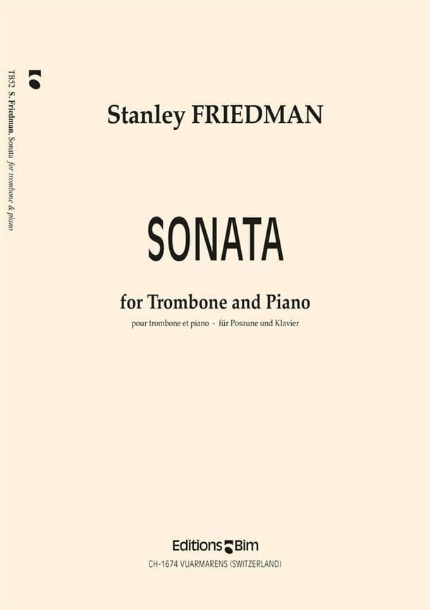 Sonata - Stanley Friedman - Partition - Trombone - laflutedepan.com