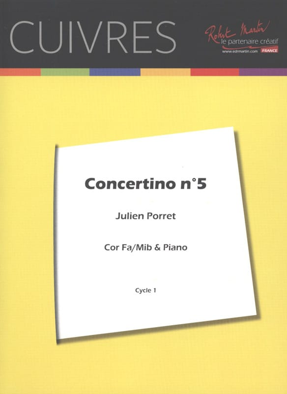 Julien Porret - Concertino N ° 5 - Partition - di-arezzo.com