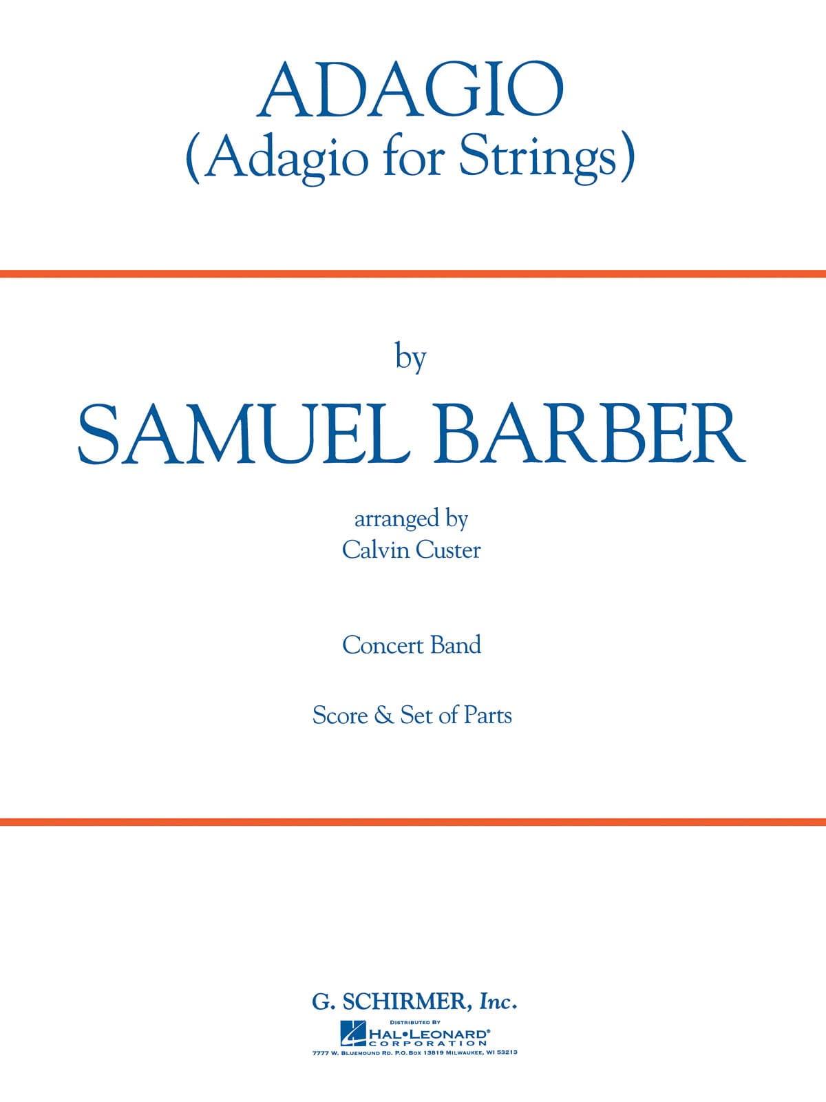 Adagio For Strings - BARBER - Partition - ENSEMBLES - laflutedepan.com