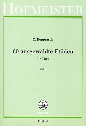 Georg Kopprasch - 60 Ausgewählte Etüden Heft 1 - Partition - di-arezzo.com